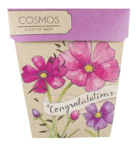 Congratulations Gift of Seeds Packet Front