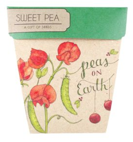 Sweet Pea Christmas Gift of Seeds Packet Front