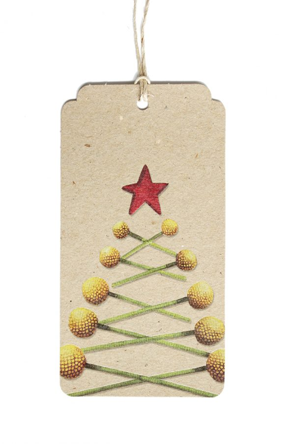 Christmas Billy Button Gift Tag