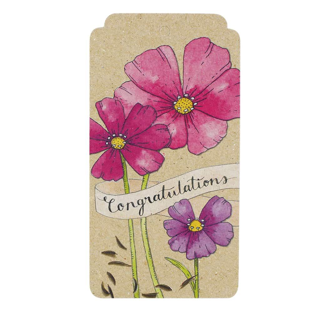 Congratulations Cosmos Gift Tag