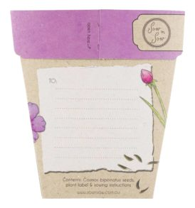 Congratulations Gift of Seeds Packet Back