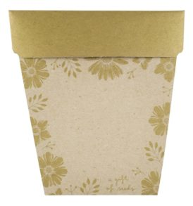 Gold Bonbonniere Gift of Seeds Front