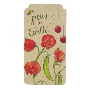 Sweet Pea Xmas Peas on Earth Gift Tag
