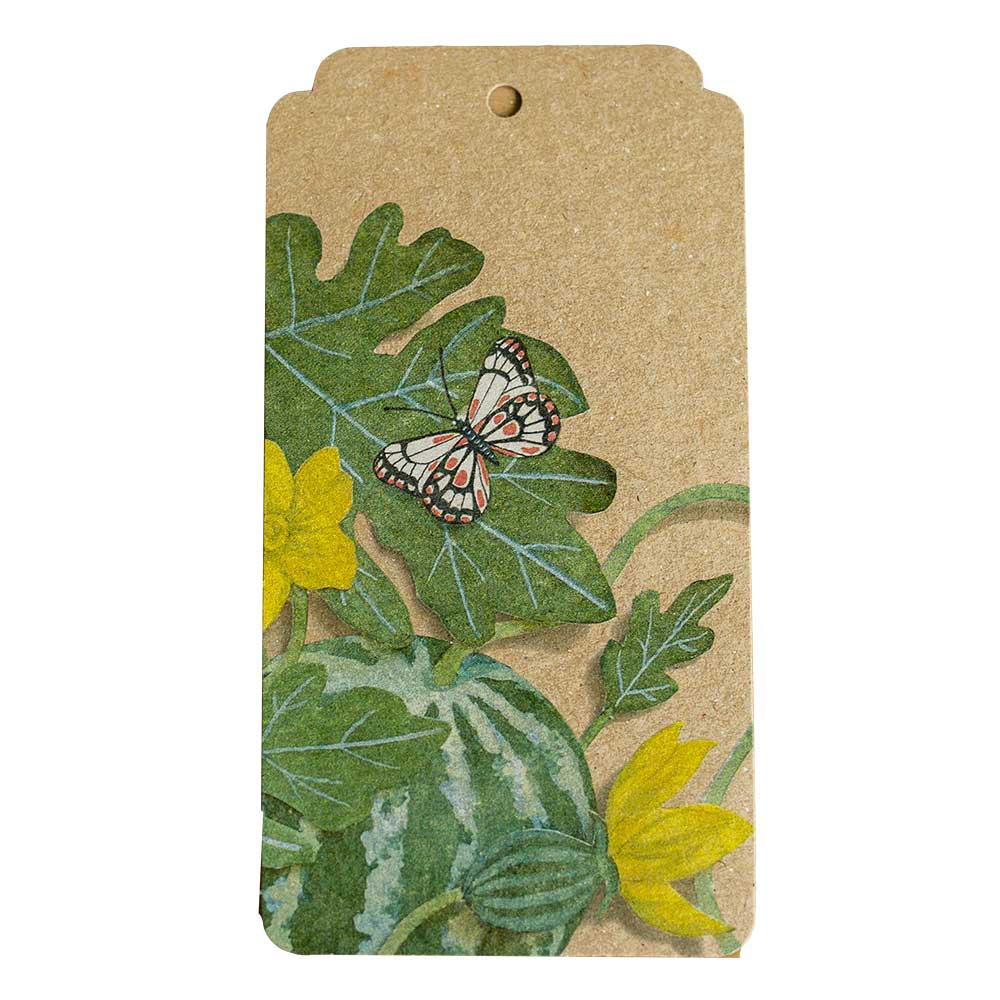 Recycled Australian Made Gift Tag with butterfly