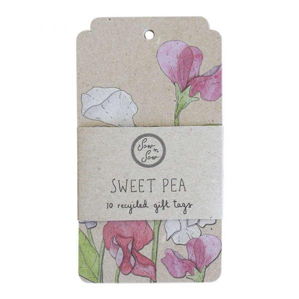 sweet pea gift tag