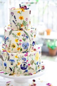 Learn how to make a pressed edible flower cake