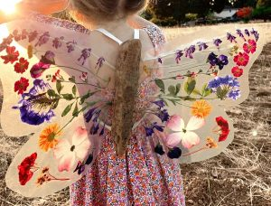 15 pressed flower crafts and activities for kids - Make pressed fllower wings for kids
