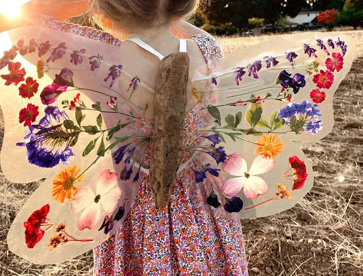 15 pressed flower crafts and activities for kids
