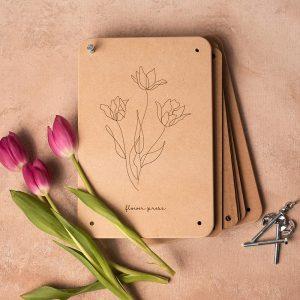 Flower Press Tulip Design