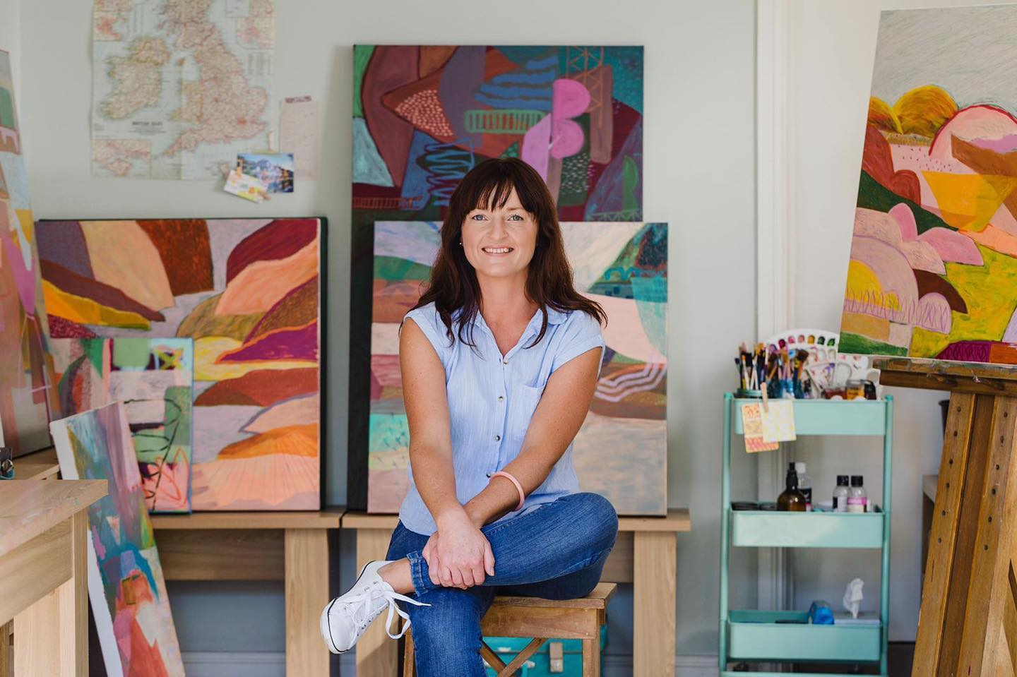 Love the abstract art on our Pop Up Pots? Meet the artist Jackie Anderson